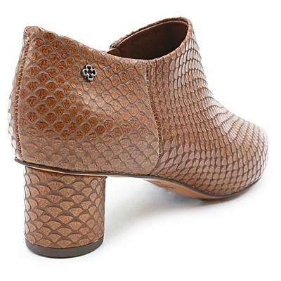 Ankle Boot Feminina Capodarte Tabaco - 231431