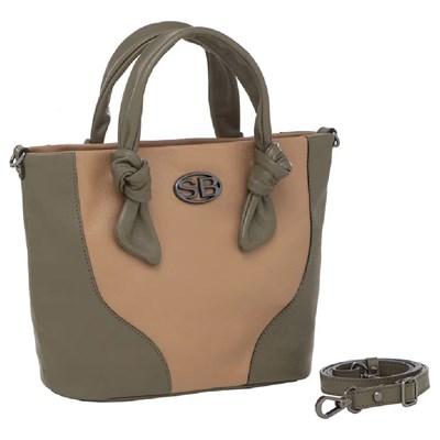 Bolsa Smart Bag Feminina Capuccino/Musgo - 240145