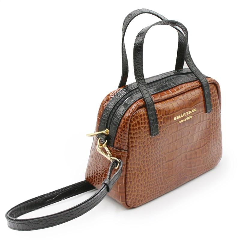 Bolsa Smart Bag Feminina Whisky/Preto - 102700