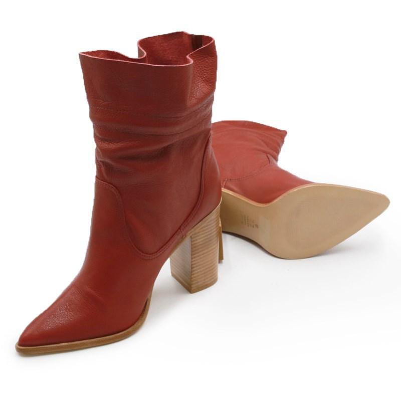 Bota Schutz Feminina Red/Brown - 240577