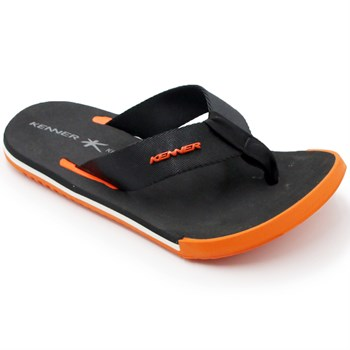 Chinelo Kenner Kicks Preto/Laranja - 209181