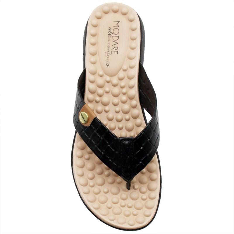 Chinelo Modare Feminino Preto/Camel - 240553