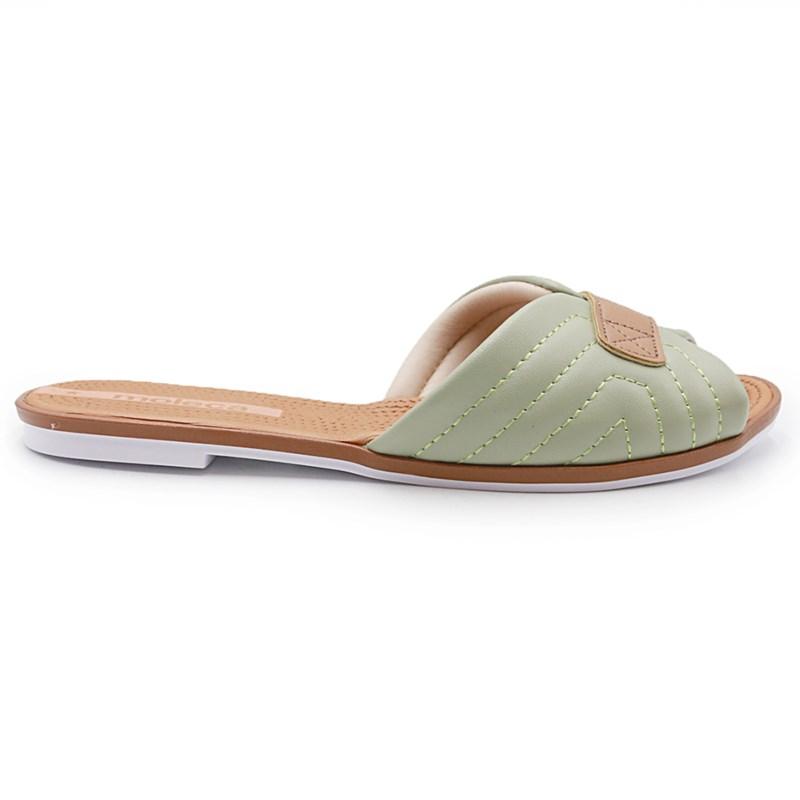 Chinelo Moleca Verde Agua/Camel - 235078