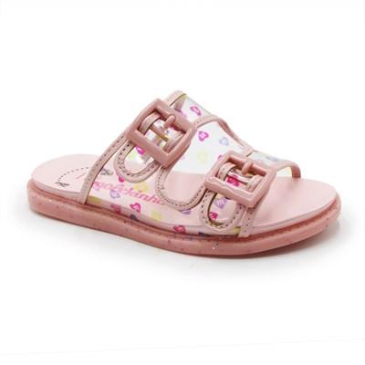 Chinelo Molekinha Infantil Transparente/Rosa - 245689