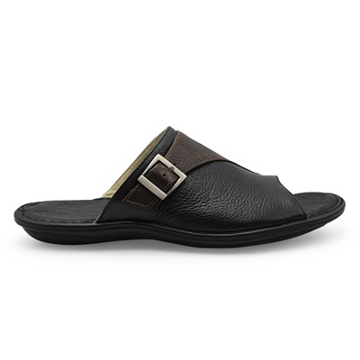 Chinelo Opananken Floater/Preto/Cafe - 235845