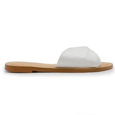 Chinelo Rasteira Carrano Branco/Crema - 244910