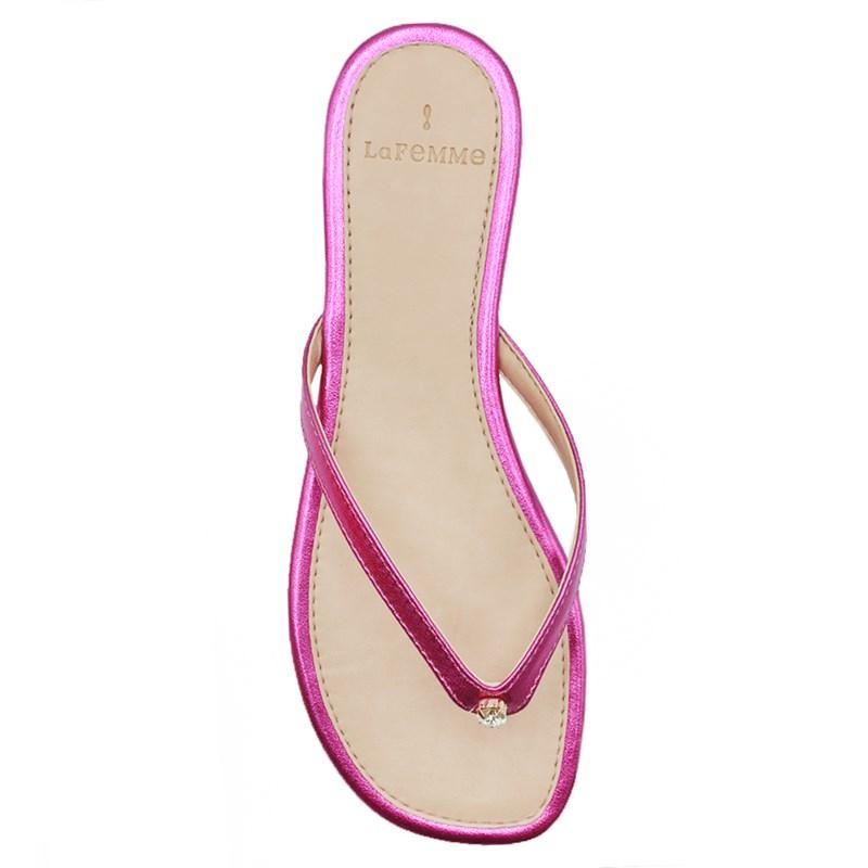 Chinelo Rasteira La Femme Pink/Cristal - 239154