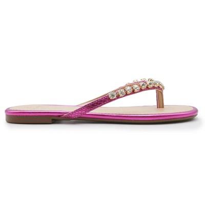 Chinelo Rasteira La Femme Pink/Metalizado - 239151