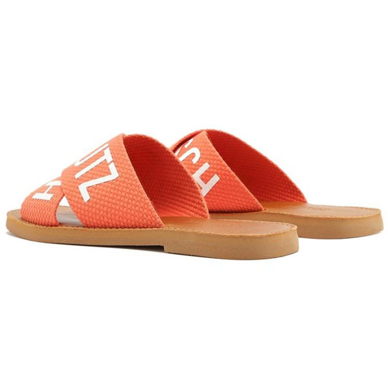 Chinelo Rasteira Schutz Feminino Bright/Tangerine - 241262
