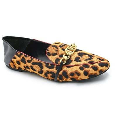 Mocassim Dumond Feminino Leopardo/Preto - 237755