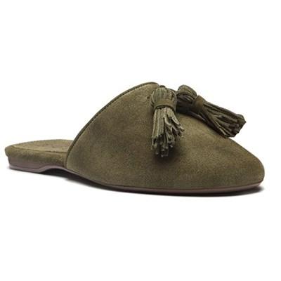 Mule Feminino Schutz Militar Green - 239125