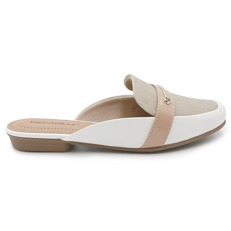 Mule Piccadilly Branco/Creme - 233480