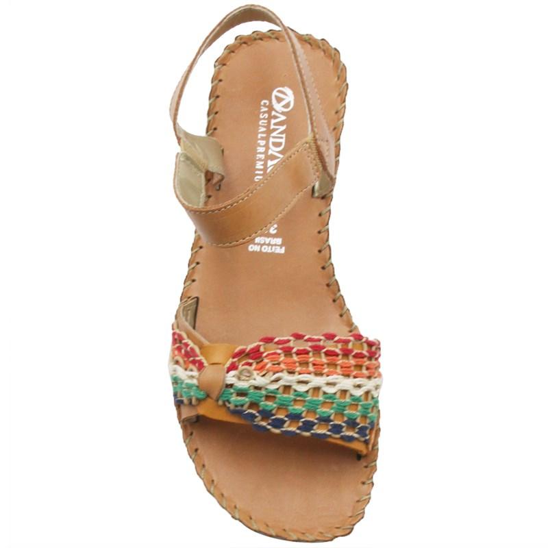 Sandalia Andacco Feminina Bison/Ceramica - 246892