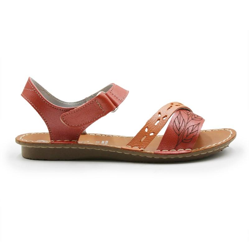Sandalia Andacco Feminina Bison/Vermelho - 246888
