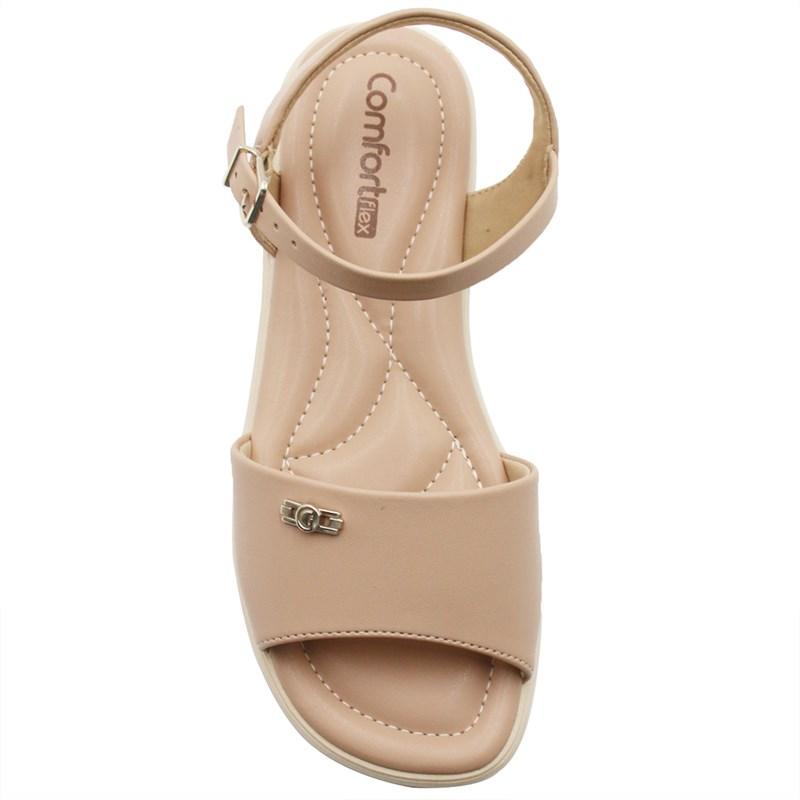 Sandalia Comfortflex Feminina Amendoa - 243957