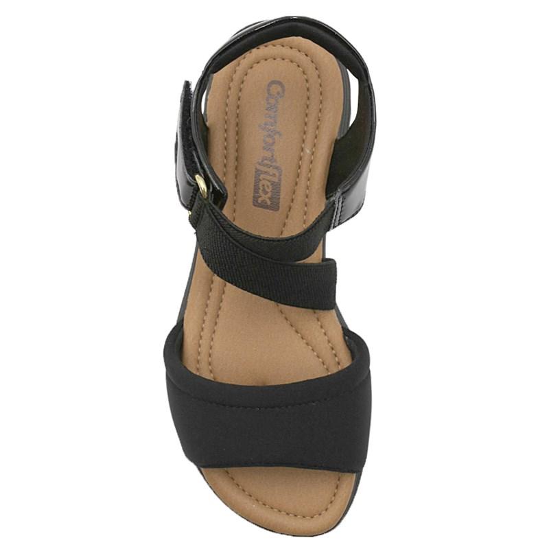 Sandalia Comfortflex Preto - 235485