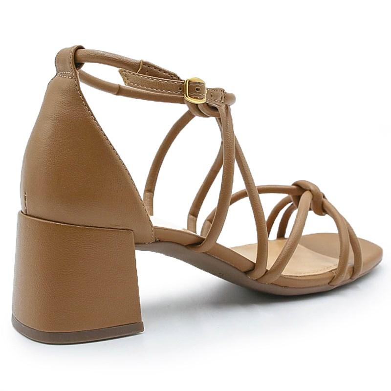 Sandalia Feminina Alme Camel - 222098
