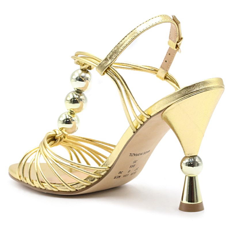 Sandália Feminina Ferrette Ouro - 228187