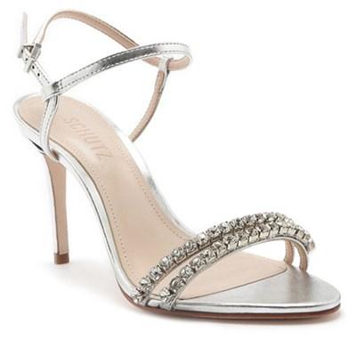 Sandalia Feminina Schutz Silver - 223941