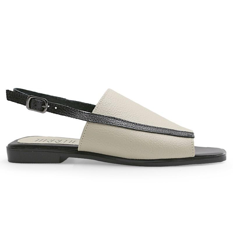 Sandalia Glr Ferrete Off White/Preto - 235471