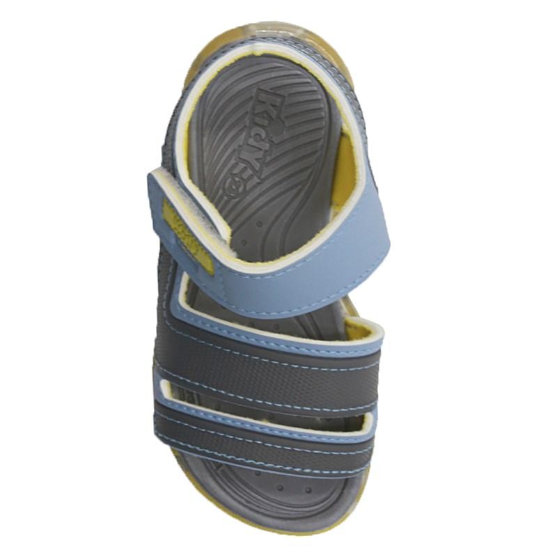 Sandalia Infantil Kidy Menino Azul/Amarelo - 243577