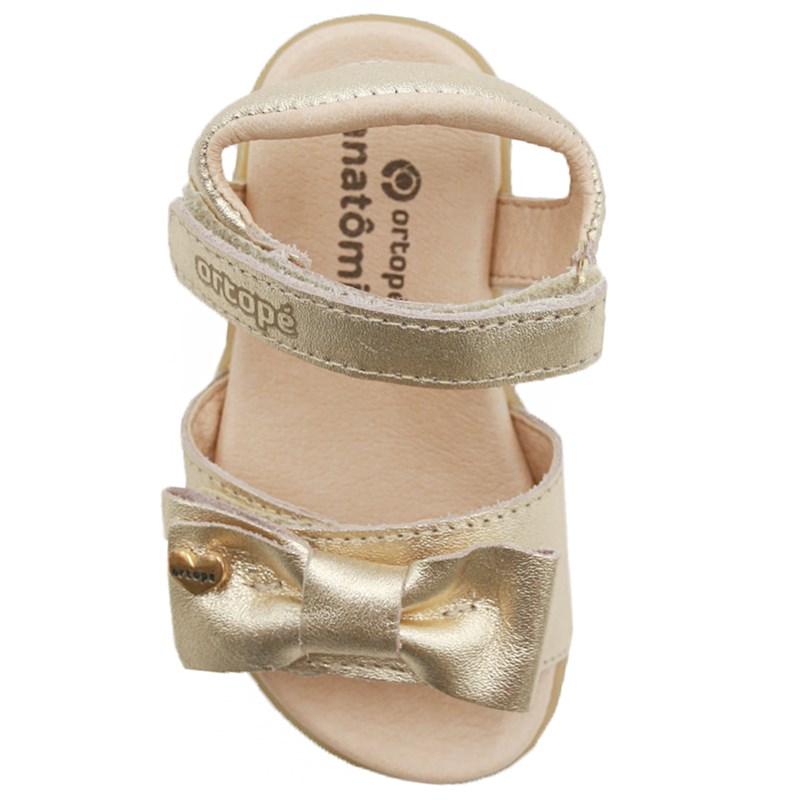Sandalia Infantil Ortope Ouro - 234754