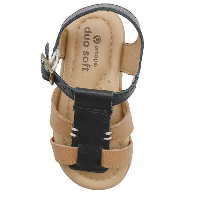 Sandalia Infantil Ortope Preto - 234755