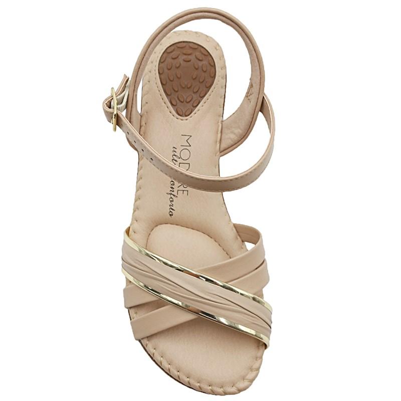 Sandalia Modare Bege/Dourado - 234329