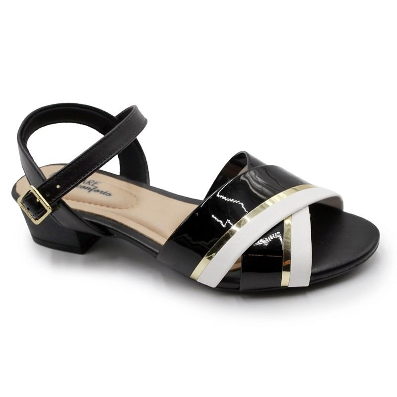 Sandalia Modare Preto/Dourado - 226512
