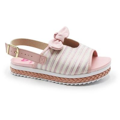 Sandalia Molekinha Infantil Cru/Rosa - 245948
