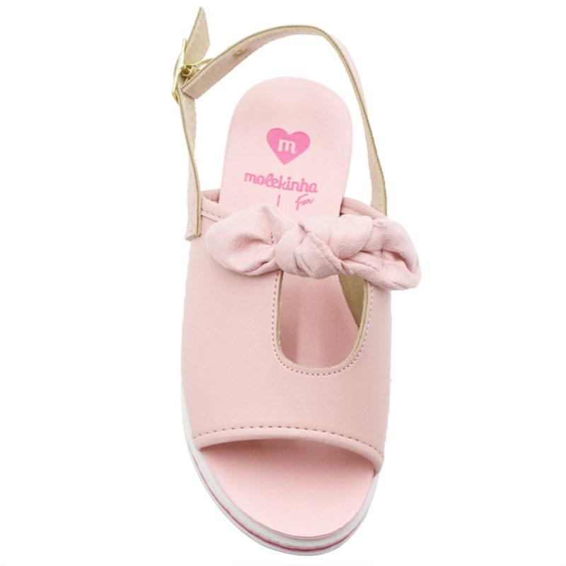 Sandalia Molekinha Infantil Rosa - 243520