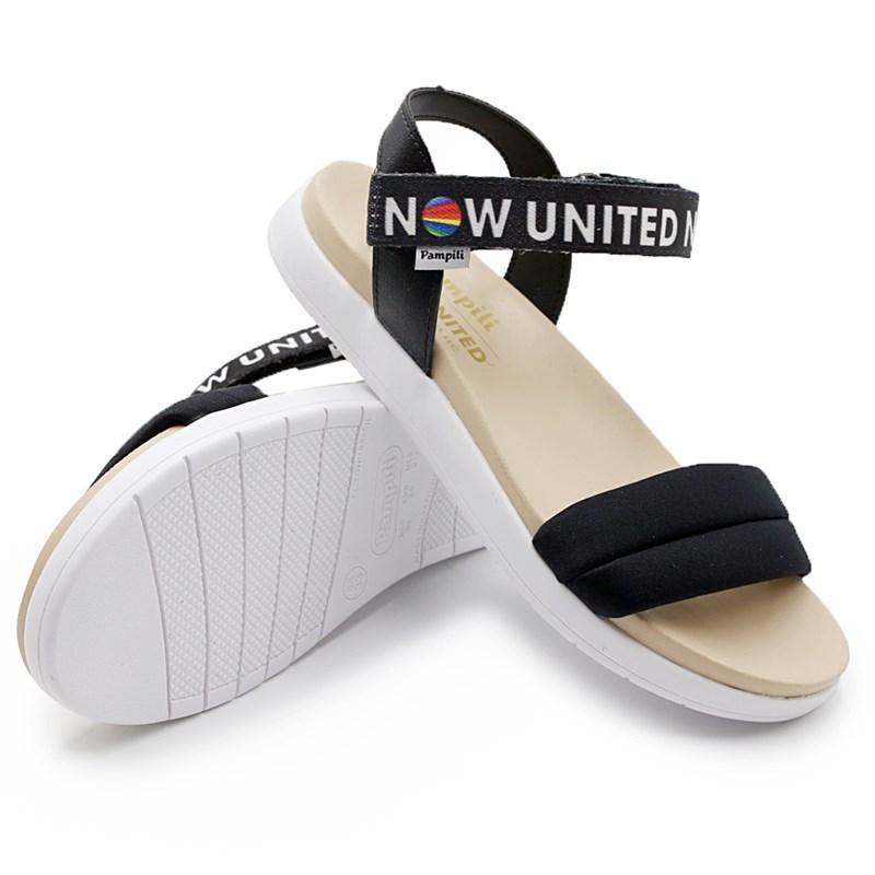 Sandalia Now United Pampili Infantil Preto - 239218