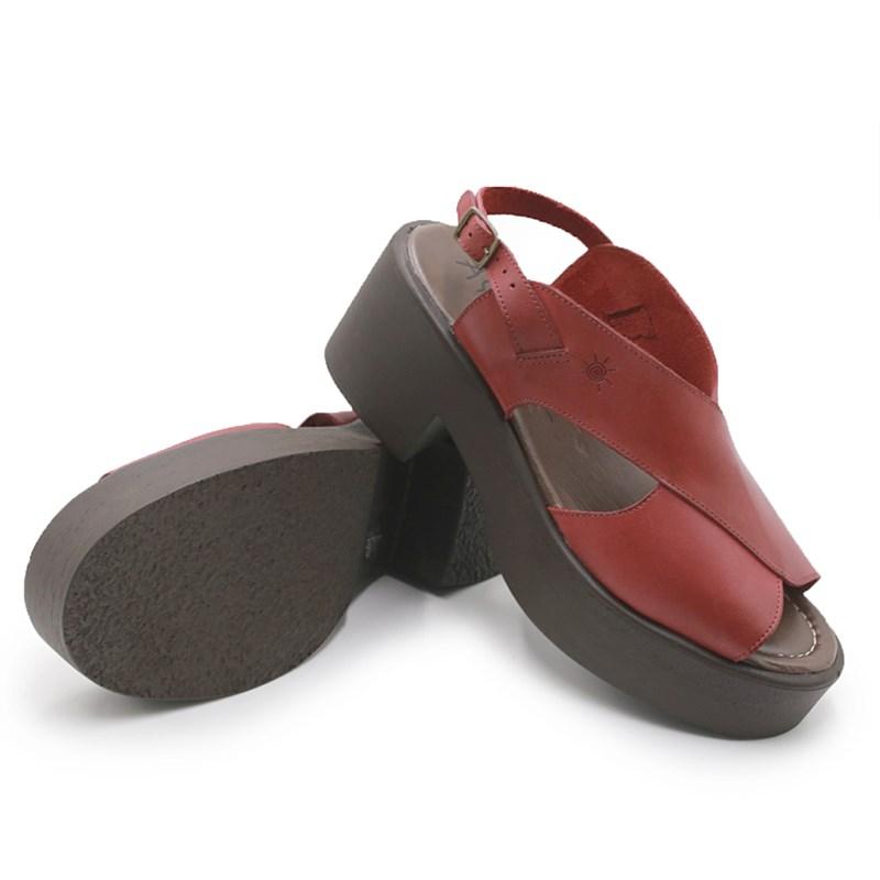Sandalia Plataforma Aye Aye Carmin - 237442