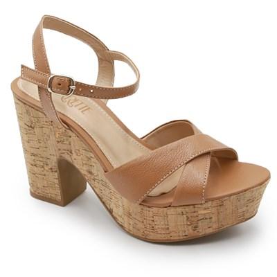 Sandalia Plataforma Ferrette Bege - 242094