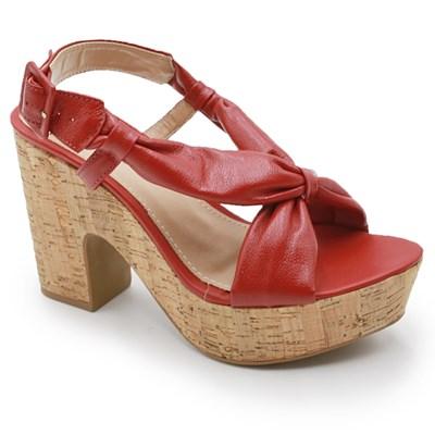 Sandalia Plataforma Ferrette Vermelho - 242091