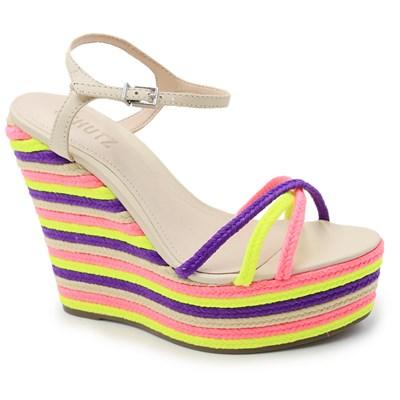 Sandalia Plataforma Schutz Pink/Yellow - 238185