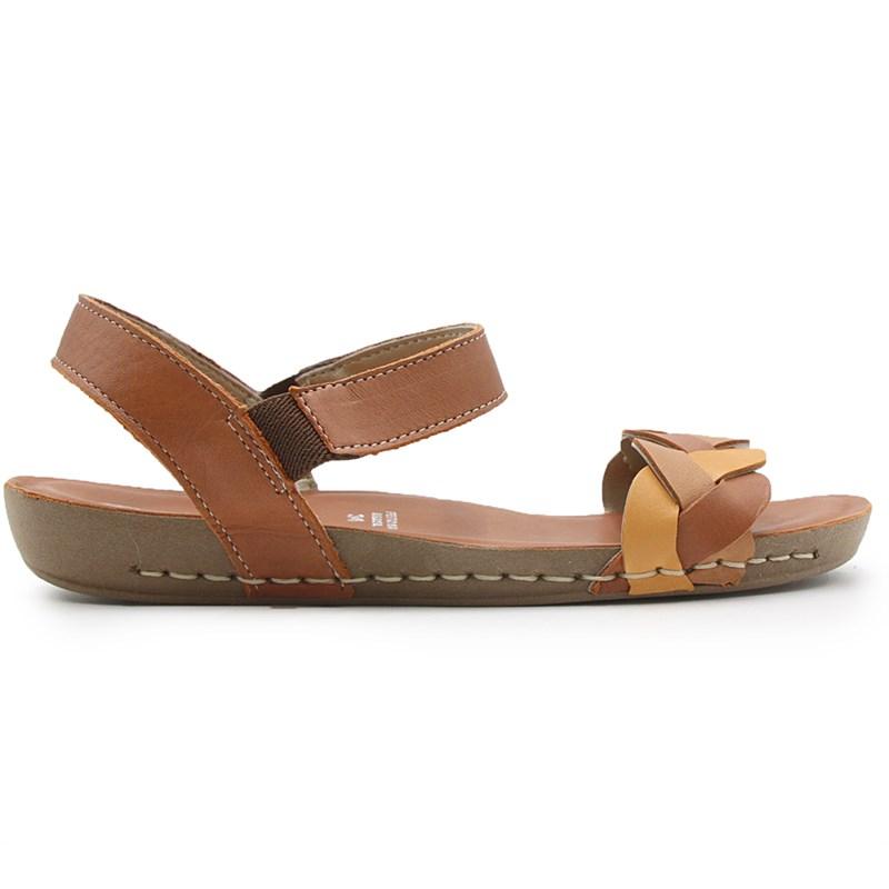 Sandalia Rasteira Andacco Feminina Rust/Ceramica - 239850