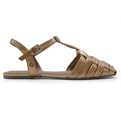 Sandalia Rasteira Capodarte Bronze - 241184