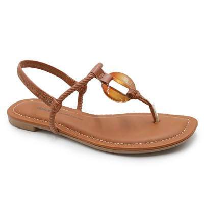 Sandalia Rasteira Dakota Mascavo - 237422