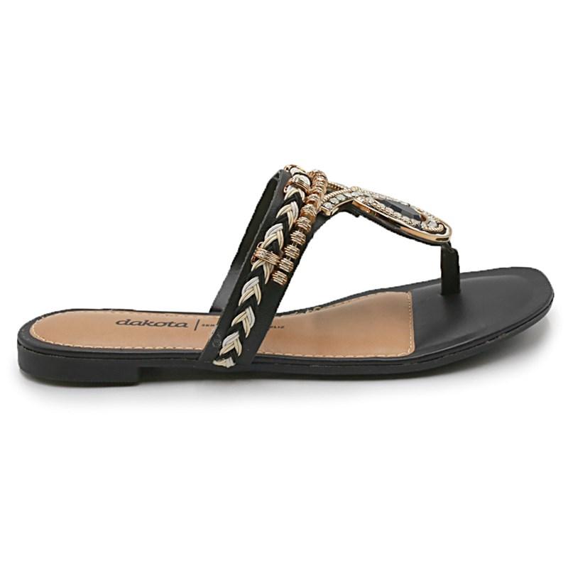 Sandália Rasteira Feminina Dakota Preto - 221028
