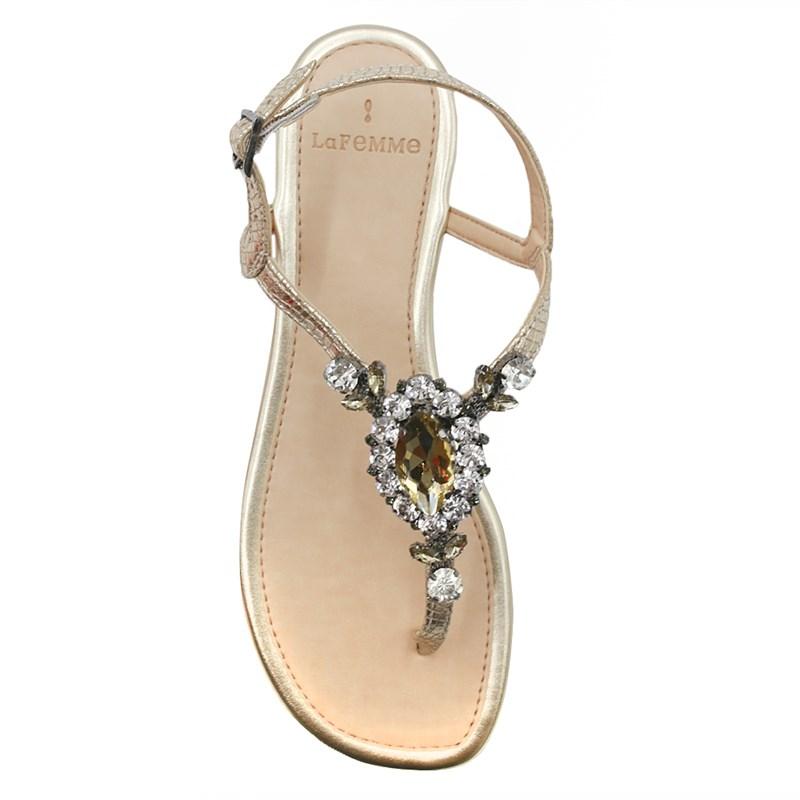 Sandalia Rasteira La Femme Dourado/Metalizado - 239150