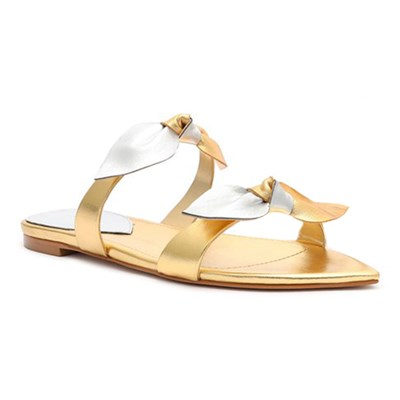 Sandalia Rasteira Schutz Ouro/Prata - 240565