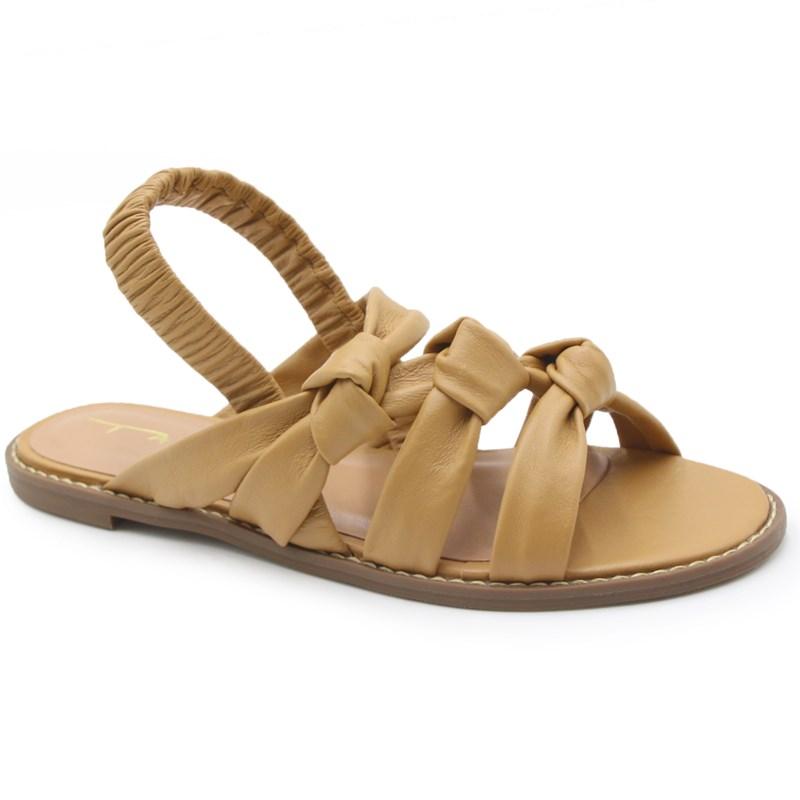 Sandalia Rasteira Tabita Camel - 239428