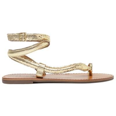 Sandalia Schutz Feminina Ouro Claro - 241944
