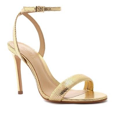 Sandalia Schutz Feminina Ouro Claro - 242019