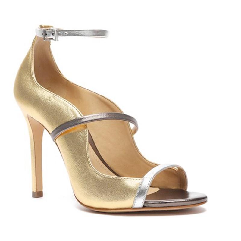 Sandalia Schutz Feminina Ouro/Prata - 241379
