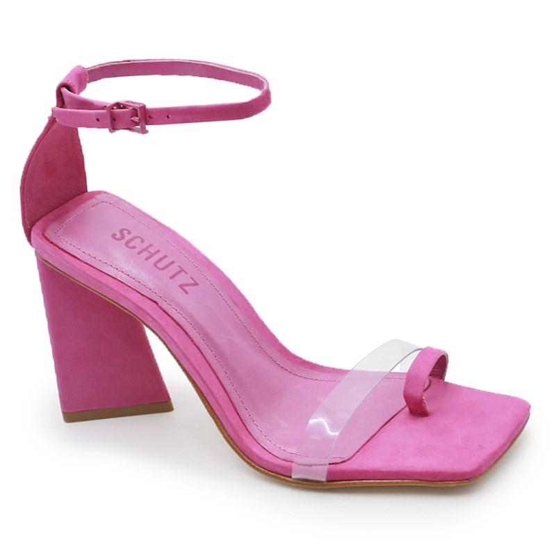 Sandalia Schutz Feminina Pink/Transparente - 242007