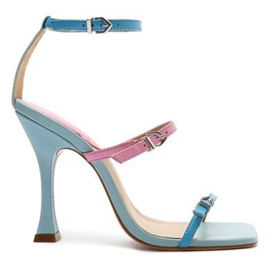 Sandalia Schutz Feminina True Blue/Club Rose - 244765