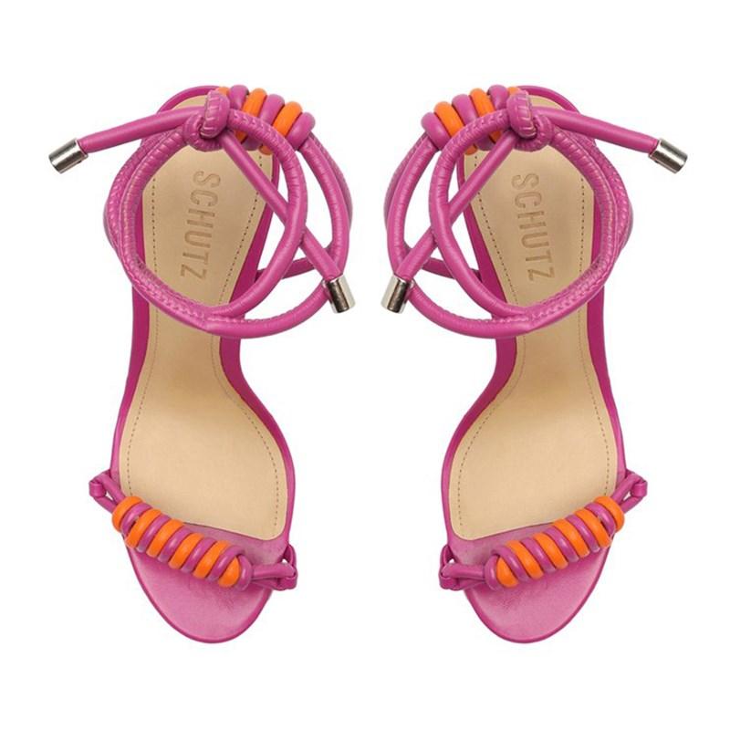 Sandalia Schutz Feminina Very Pink/Bright Tangerine - 246015
