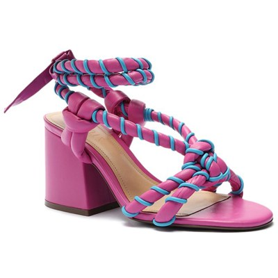 Sandalia Schutz Feminino Very Pink/True Blue - 242014
